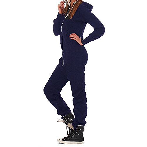 GN23 Lucky Joe\'s Damen Jumpsuit Trainingsanzug Overall Jogginganzug Navy XS