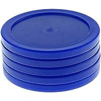 FLAMEER 62 Mm De Plástico Air Hockey Pucks para Tablas De Tamaño Completo Air Hockey, Pack De 5 - Azul