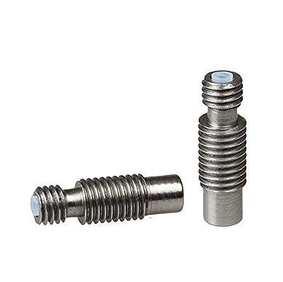 2* E3D V6 Bowden Metal Heat Break Barrel Feed Tube for 1.75mm 3mm Filament 3D Printer