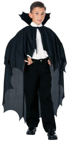 Graf Dracula Kinder Kostüm - Kinder Kostüm Umhang Cape Fledermaus Vampir Dracula