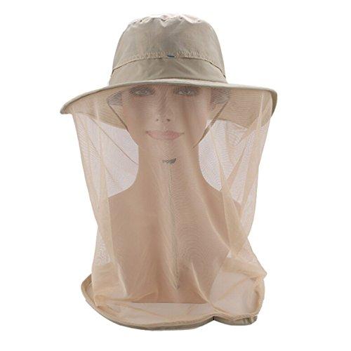 Butterme Sun Hut Outdoor Große Brim Beekeeper Moskito Net Hut Fischen Hut Eimer Hut mit Schleier Moskito Fliegen Kopf Netz Gesicht Maske Gesicht Schutz