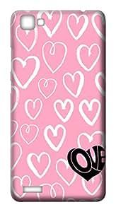 Mott2 Back Case for Vivo V1   Vivo V1Back Cover   Vivo V1 Back Case - Printed Designer Hard Plastic Case - love theme