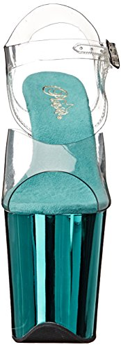 Pleaser FLAMINGO-808, Sandali donna Clr/Turquoise Chrome