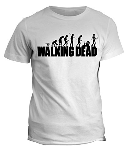 Tshirt the Walking Dead - Zombie Evolution - in cotone by Fashwork Bianco
