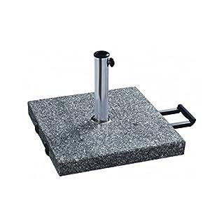 almar garden Model: Granite Parasol Base with Handle and Wheels.