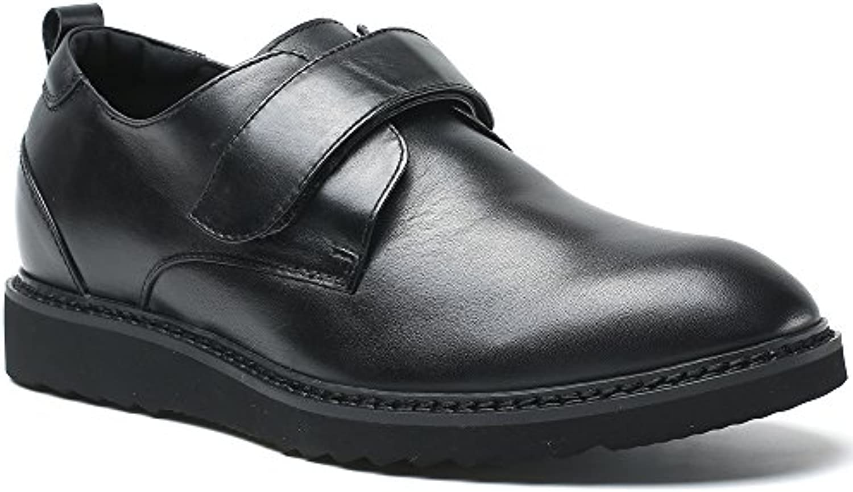 CHAMARIPA Zapatos Que Aumentan la Altura de Cuero Ascensor para Hombre Suede Hidden Heel Taller-H81C20D181D