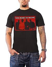Rage Against The Machine T Shirt Faceless Band Shot Logo Official Mens Black