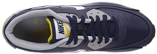 Nike Air Max 90 Ltr, Chaussures de running homme - Bleu (Obsidian/White/Wolf Grey/Gold Ld), 44.5 EU Bleu (Obsidian/White/Wolf Grey/Gold Ld)