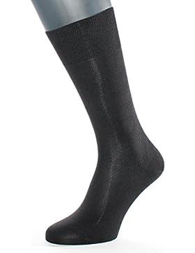 ALBERT KREUZ Die Elegante aus Seide - schwarze Herren-Socken aus 98% Seide - Made in Germany