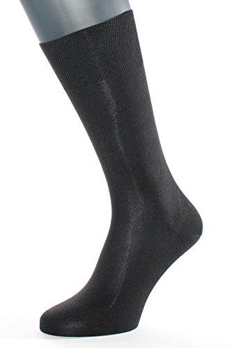 ALBERT KREUZ Die Elegante aus Seide - Herren-Socken aus 98% Seide schwarz 48-50 Socke Maschine