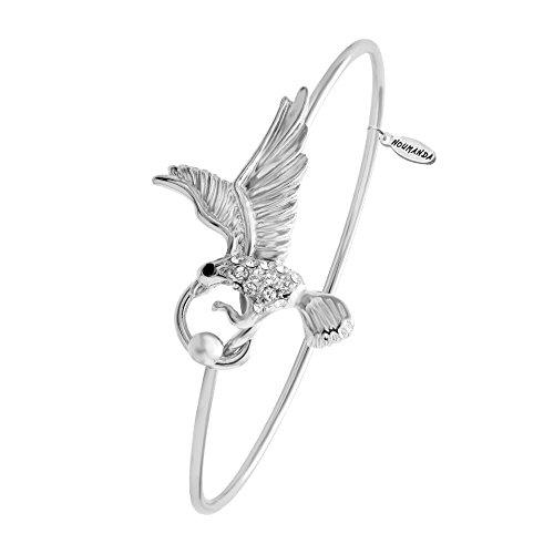 noumanda braccialetto regolabile fashion Aquila Charm Bracciale Donna, rame, colore: sliver, cod.
