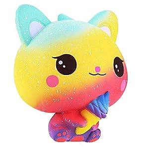 Squishie Gato helado arco iris
