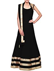 Kalki Fashion Black Anarkali Suit With Embellished Shoulder Only On Kalki