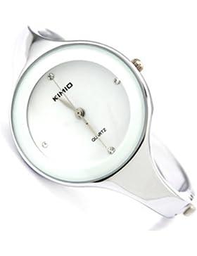 Sanwood Fashion Damenuhr Quarzuhr Armreif Damen Uhr Armbanduhr Weiß