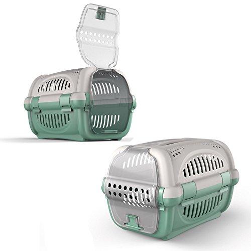 Groß Katze Carrier Kätzchen tragbar Pet Transporter Käfig Box vet