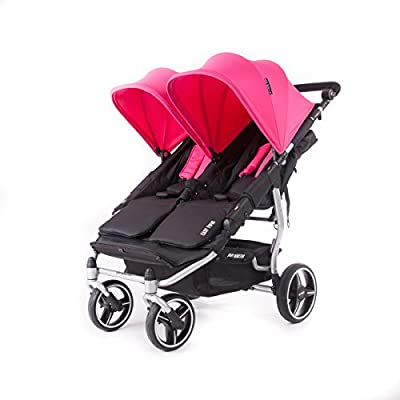 Baby Monsters- Silla Gemelar Easy Twin 3.0.S ( Silver ) - Color Fucsia + REGALO de un bolso de polipiel (capota normal) Danielstore