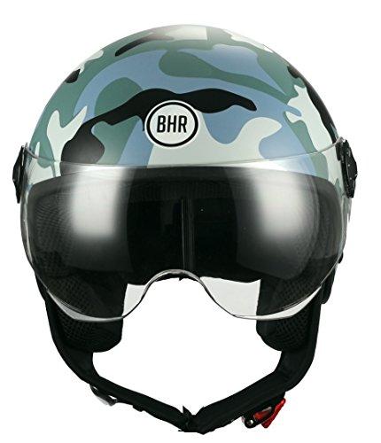 BHR-Casco-Moto-Demi-Jet-Linea-One-801-Camouflage-Grigio-M-5758-cm
