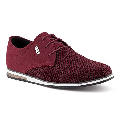 Rot Casual Schuhe (Fusskleidung Herren Business Schnürer Casual Halb Sneaker Schuhe Anzugschuhe Rot EU 42)