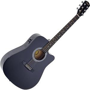 Chitarra Acustica 6 corde Fender Amplificata Nera + CAVO OMAGGIO