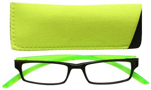 UV Reader Cuello Specs Negro Brillante Verde Brazo