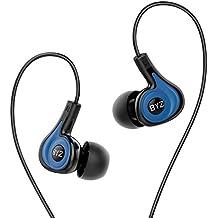 Sound Intone BYZ-K62 Deportes Auriculares con Micrófono y Control de volumen, Running Estéreo in ear Headphones para iPhone Android Smartphones iPad iPod Mac Portátil Tabletas(Azul)