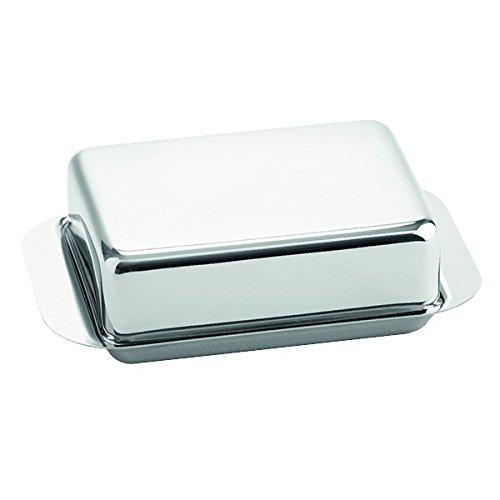 Weis Butterdose für 1/2 Pfund, Edelstahl, Silber, 15 x 9.4 x 4.2 cm (Silber Pfund)