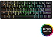 GK61 Mechanical Gaming Keyboard - 61 Keys Multi Color RGB Illuminated LED Backlit Wired Gaming Keyboard, Water