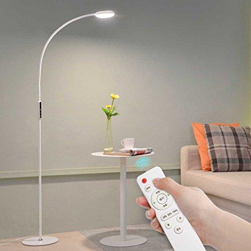 Preisvergleich Produktbild % Standleuchten 9WLED Lesung Stehleuchte Fernbedienung Wohnzimmer Klavier Lampe Schlafzimmer Stehleuchte. Warmes Weiß 3000-6000K (60 LED-Lichtperlen) Beleuchtung (Farbe : Weiß)