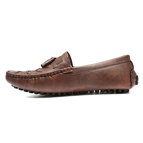 Ziesha Men's Brown Artificial Leather loafer - 10 UK