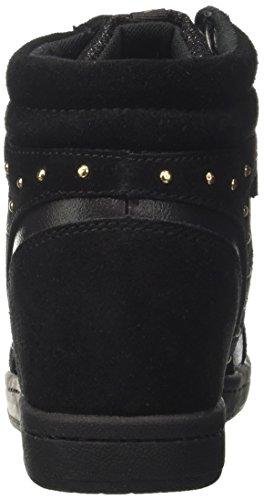 Versace Jeans Ee0vrbsc1_e70021, Sneaker a Collo Alto Donna Nero