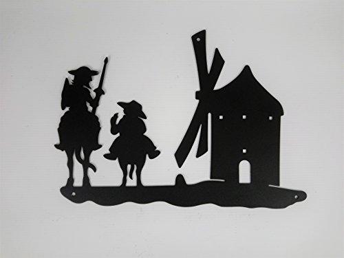 Quijote y molino de forja 25cm largo x 17cm alto