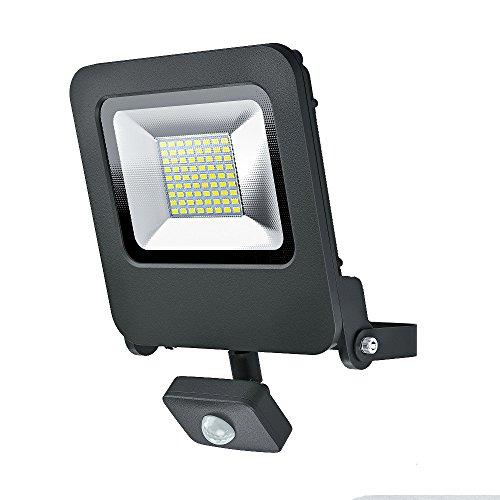 Osram LED Endura Flood Sensor Fluter, für Außenanwendungen, integrierter Bewegungssensor, Warmweiß, 257, 0 mm x 201, 0 mm x 63, 0 mm