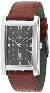 Titan Steel Analog Black Dial Men's Watch - NE9280SL02A