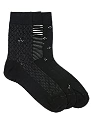 Arrow Mens Calf Length Cotton with Stretch Spandex Socks Pack of 3 Pair