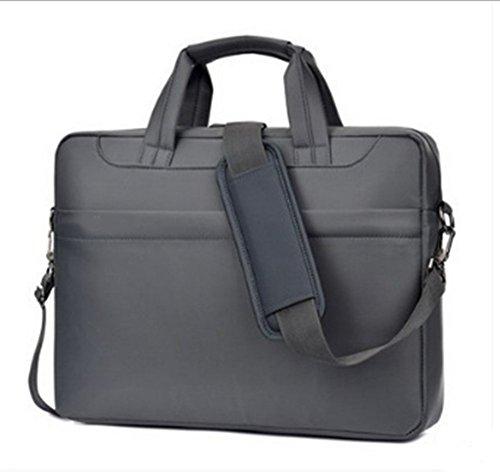 Swallowuk Laptop-Handtasche, Männer groß-Kapazität Business Aktenkoffer Aktenkoffer Grau