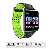 LMtt Fitness Tracker, presión Arterial Reloj Inteligente Hombres frecuencia cardíaca Reloj de Pulso medidor de natación Pulsera Impermeable Bluetooth Reloj para WOM,Green