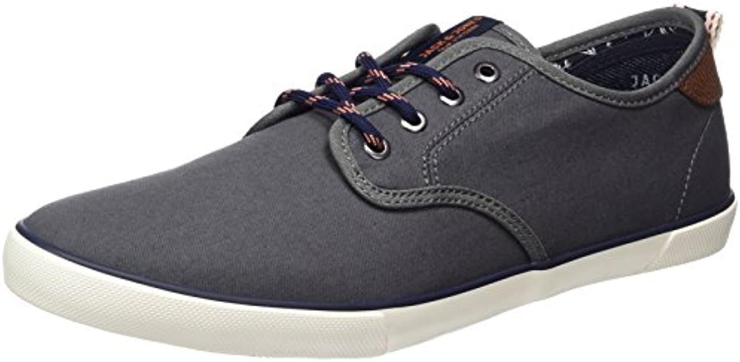 JACK  JONES Herren Jfwtack Canvas Castlerock Low Top