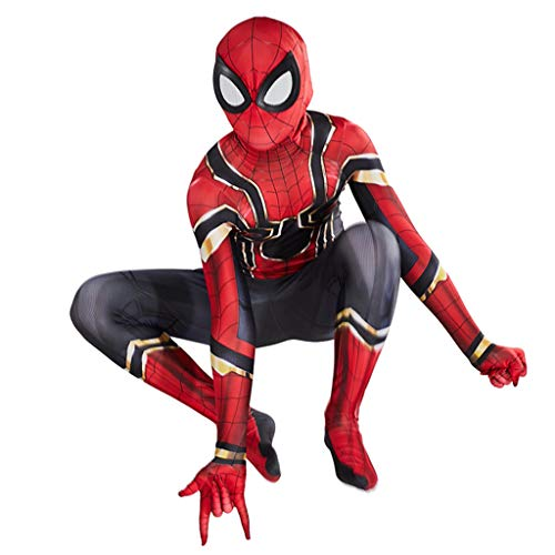 2 Eisen Mann Kostüm Frau - Ghuajie5hao Eisen spidermen Cosplay Kostüme Overall Kinder 3D Gedruckt Body Kostüm Für Kind Kleinkinder Zubehör Set Halloween Kleidung Anime Filmrequisiten Kostüme,Rot,S