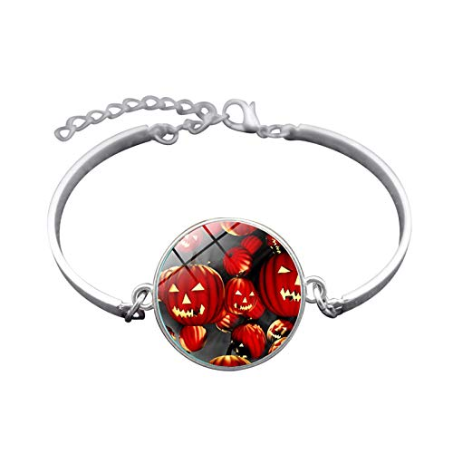 Blisfille Handgemachte Halloween Hexe Zeit Edelstein Armband Mode Armband Hand Link Day Damen Herren Geschenk
