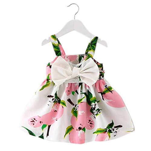 f3f133c2b Girls Princess Dress, Transer® Baby Girl Clothes Newborn Lemon Printed  Infant Outfit Sleeveless Princess
