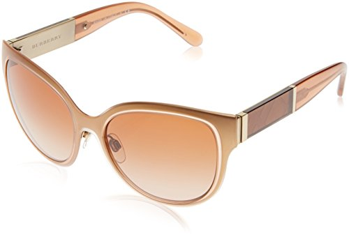BURBERRY Damen 0Be3087 121813 57 Sonnenbrille, Gold/Brown
