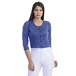 Rupa Volcano Womens Blouse Premium Thermal(Colour: Blue )(Size: Medium, 34 inch, 85 cm )