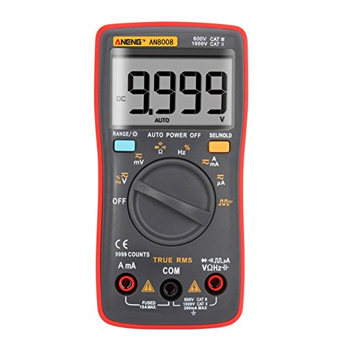 prettygood7 Multimeter AN8008 True-RMS Digital-Multimeter 9999 Zählt Square-Wave-Spannungs-Amperemeter -