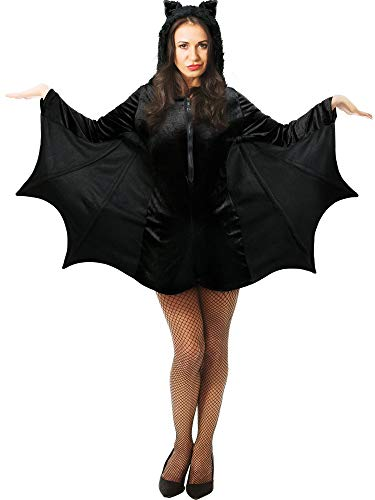 Boao Halloween Fledermaus Kostüm Erwachsenen Fledermaus Kostüm Vampir Fledermaus Kostüm für Frauen Mädchen Halloween Party Gefallen - Süße Vampir Kostüm Frauen