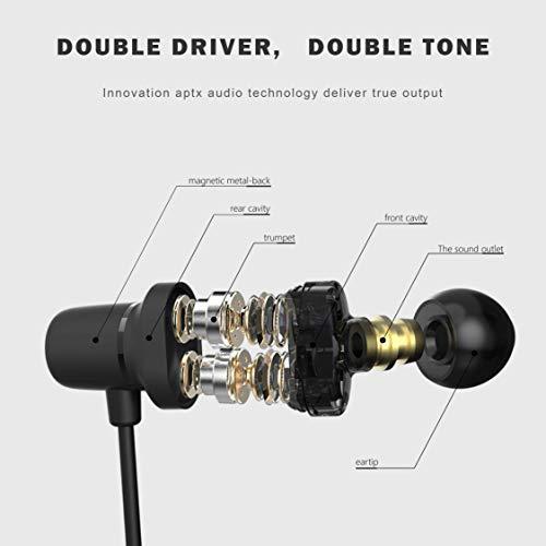 LiteXim Auricolari Bluetooth True Auricolari Wireless Cuffie da Palestra  con Microfono Design Magnete Noise Cancelling per iPhone Samsung Huawei c20a121d255c