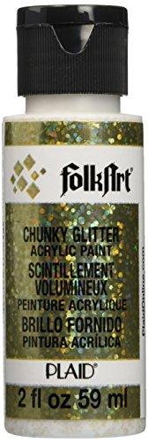Plaid Folkart Extreme Glitzer 59ml (2oz) Chunky Gold