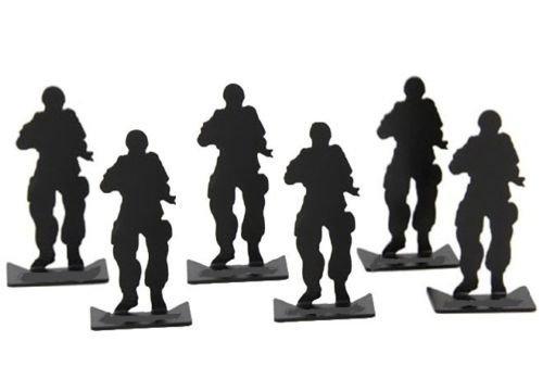 NEU 6 STÜCK SOLDIER LUFTGEWEHR BB GEWEHRMETALL ZIELE LUFTGEWEHR ÜBUNG SCHIEßEN