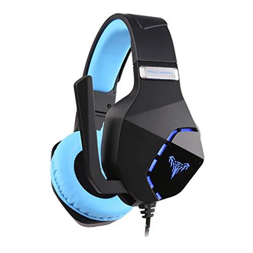 LRWEY Gaming Headset für PS4 PC Xbox One, High Fidelity Bass-Stereo-Gaming-Headset mit 3,5-mm-MIC-Stecker, für Laptop Mac Handy Tablet