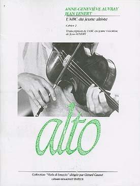 L'ABC du jeune altiste, cahier 2 : Transcription de l'ABC du jeune violoniste de Jean Lenert