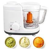 Sotech - Baby Menu 2 in 1 Küchenmaschine, Babynahrung Dampfgarer und Mixer,Küchenmaschine,Babynahrungszubereiter mit 500 ml Fassungsvolumen BPA-frei, Dampfgaren und Mixen, Orange